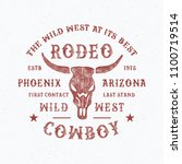rodeo typography. arizona state ... | Shutterstock .eps vector #1100719514