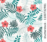 tropical background with palm...   Shutterstock .eps vector #1100732981