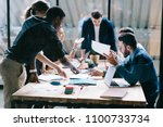 collaborative process of... | Shutterstock . vector #1100733734