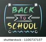 white chalk font design on... | Shutterstock .eps vector #1100737157