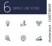 set of 6 strategy icons line... | Shutterstock .eps vector #1100738039