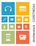 set of 12 work icons set.... | Shutterstock . vector #1100738261