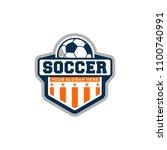 football badge logo | Shutterstock .eps vector #1100740991