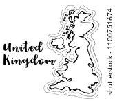 hand drawn united kingdom map... | Shutterstock .eps vector #1100751674