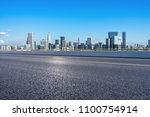 empty asphalt road with... | Shutterstock . vector #1100754914