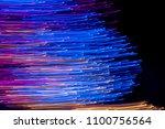abstract long exposure light... | Shutterstock . vector #1100756564