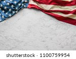 Close Up American Flag On White ...