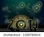 happy new year 2019  year of... | Shutterstock .eps vector #1100760614