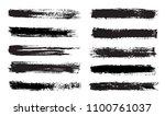 set of grunge paint brushes.... | Shutterstock .eps vector #1100761037