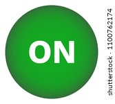 on round button. green. vector...