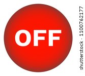 off round button. red. vector...