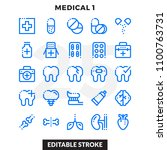 dashed outline icons pack for... | Shutterstock .eps vector #1100763731