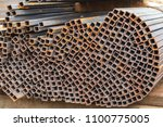 metal square tubes connected... | Shutterstock . vector #1100775005