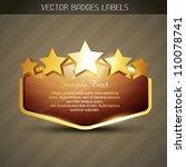 vector golden label with space... | Shutterstock .eps vector #110078741