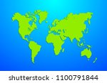 green and blue map of the world.... | Shutterstock .eps vector #1100791844
