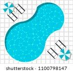 summer holiday banner. beach... | Shutterstock .eps vector #1100798147
