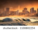 dramatic view of ipanema beach... | Shutterstock . vector #1100802254