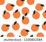 seamless pattern with fruits on ... | Shutterstock .eps vector #1100802584