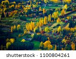 autumn leaves with yellow... | Shutterstock . vector #1100804261