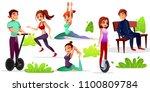 boys and girls leisure vector... | Shutterstock .eps vector #1100809784