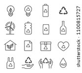 ecology system vector icon set. ... | Shutterstock .eps vector #1100815727