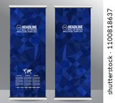 roll up business brochure flyer ... | Shutterstock .eps vector #1100818637