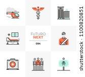 modern flat icons set of... | Shutterstock .eps vector #1100820851