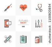 modern flat icons set of... | Shutterstock .eps vector #1100820854