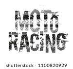 off road grunge moto racing... | Shutterstock .eps vector #1100820929