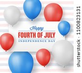 fourth of july greeting card  ... | Shutterstock .eps vector #1100823131