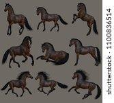3d computer graphics of nine... | Shutterstock . vector #1100836514