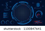 hud screen display dna and... | Shutterstock .eps vector #1100847641