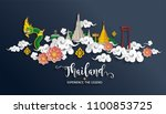 thailand travel concept the... | Shutterstock .eps vector #1100853725