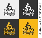 vector bicycle icon. bike with... | Shutterstock .eps vector #1100856641