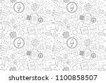 vector ethereum and smart... | Shutterstock .eps vector #1100858507
