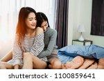 asian woman young lesbian... | Shutterstock . vector #1100859641