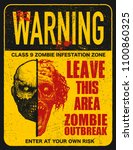 sign board with zombie  words... | Shutterstock .eps vector #1100860325