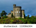 scottish castle in storm ... | Shutterstock . vector #110086304