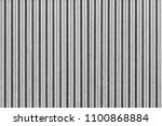 white corrugated metal fence... | Shutterstock . vector #1100868884