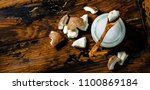 organic healthy coconut butter... | Shutterstock . vector #1100869184