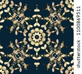 paisleys elegant floral... | Shutterstock . vector #1100869511