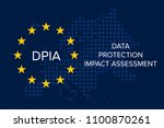 data protection impact... | Shutterstock .eps vector #1100870261