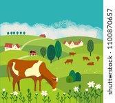 nature outdoor valley landscape.... | Shutterstock .eps vector #1100870657