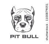 contour logo of dog. portrait... | Shutterstock .eps vector #1100879051