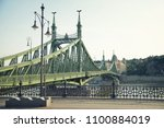 liberty bridge  budapest ... | Shutterstock . vector #1100884019