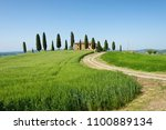 famous farm house with cypress... | Shutterstock . vector #1100889134