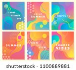 unique artistic summer cards... | Shutterstock .eps vector #1100889881