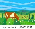 nature outdoor landscape.... | Shutterstock .eps vector #1100891357