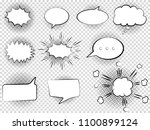 set of hand drawn comic speech... | Shutterstock .eps vector #1100899124
