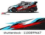 rally car wrap vector designs.... | Shutterstock .eps vector #1100899667